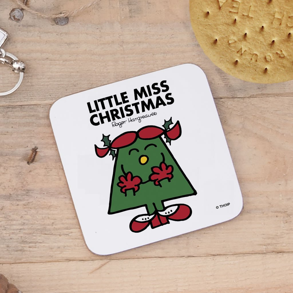 Little Miss Christmas Cork Coaster (Lifestyle)