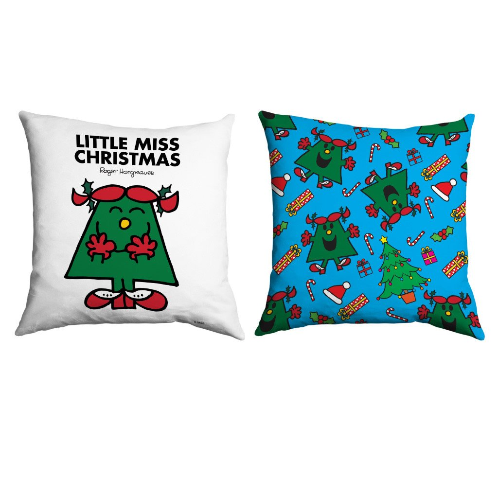 Little Miss Christmas Micro Fibre Cushion