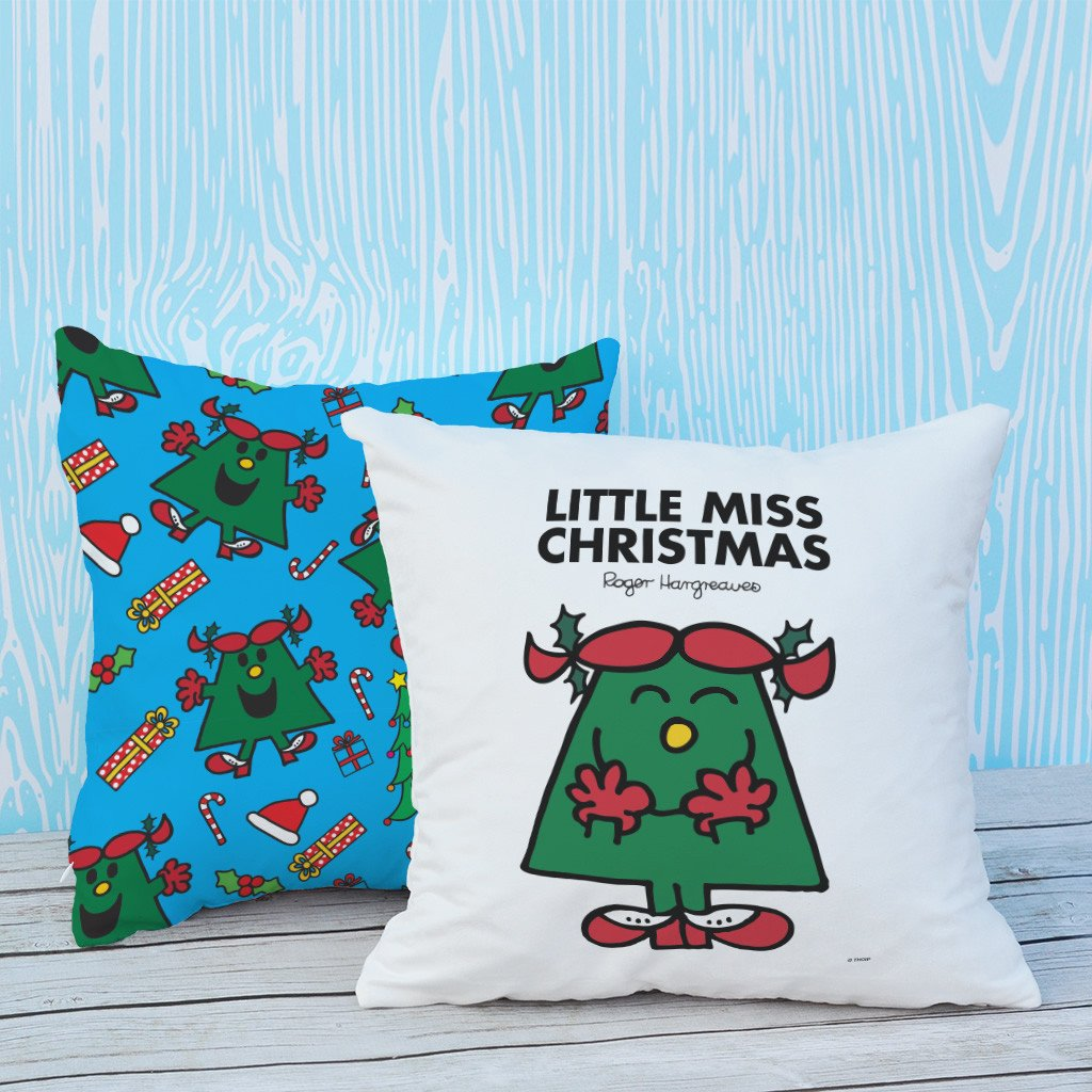Little Miss Christmas Micro Fibre Cushion (Lifestyle)