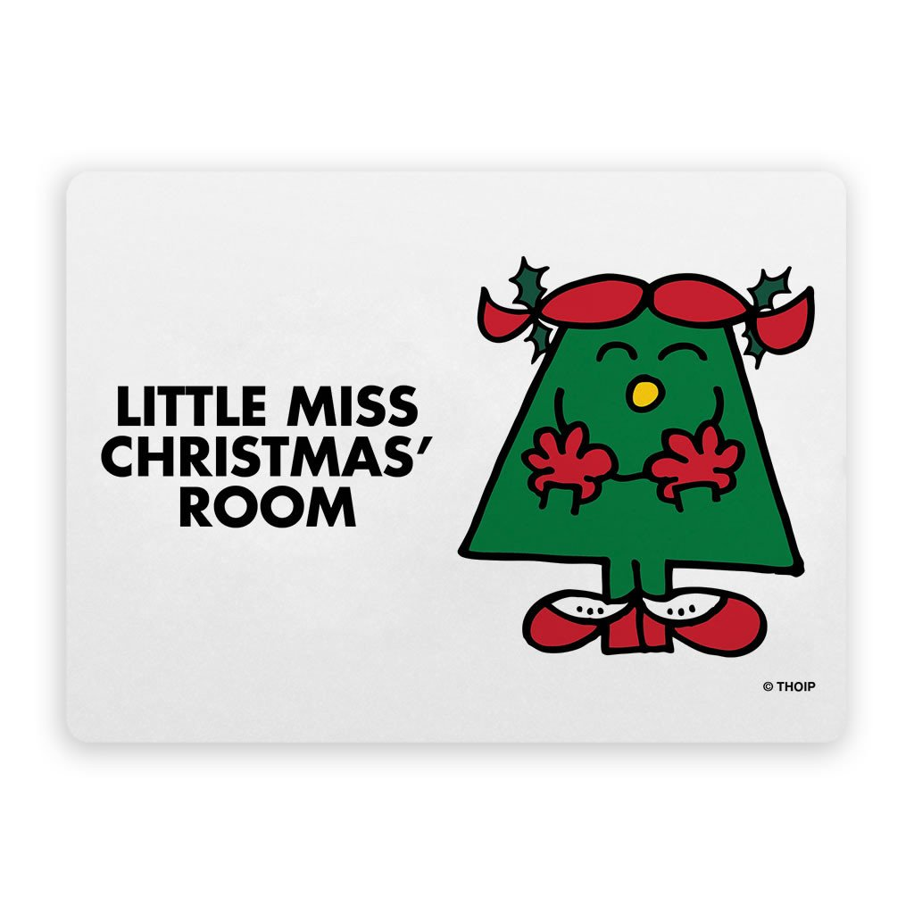 Little Miss Christmas Door Plaque