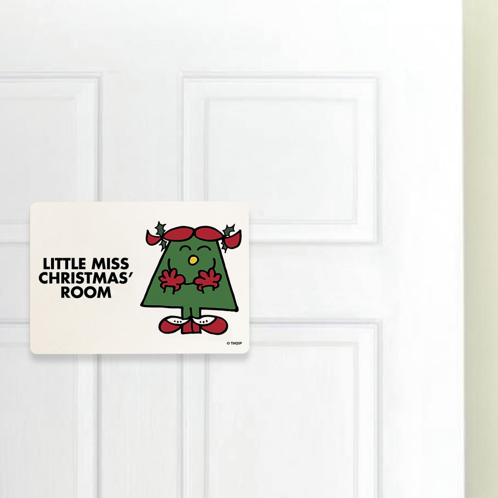 Little Miss Christmas Door Plaque (Lifestyle)