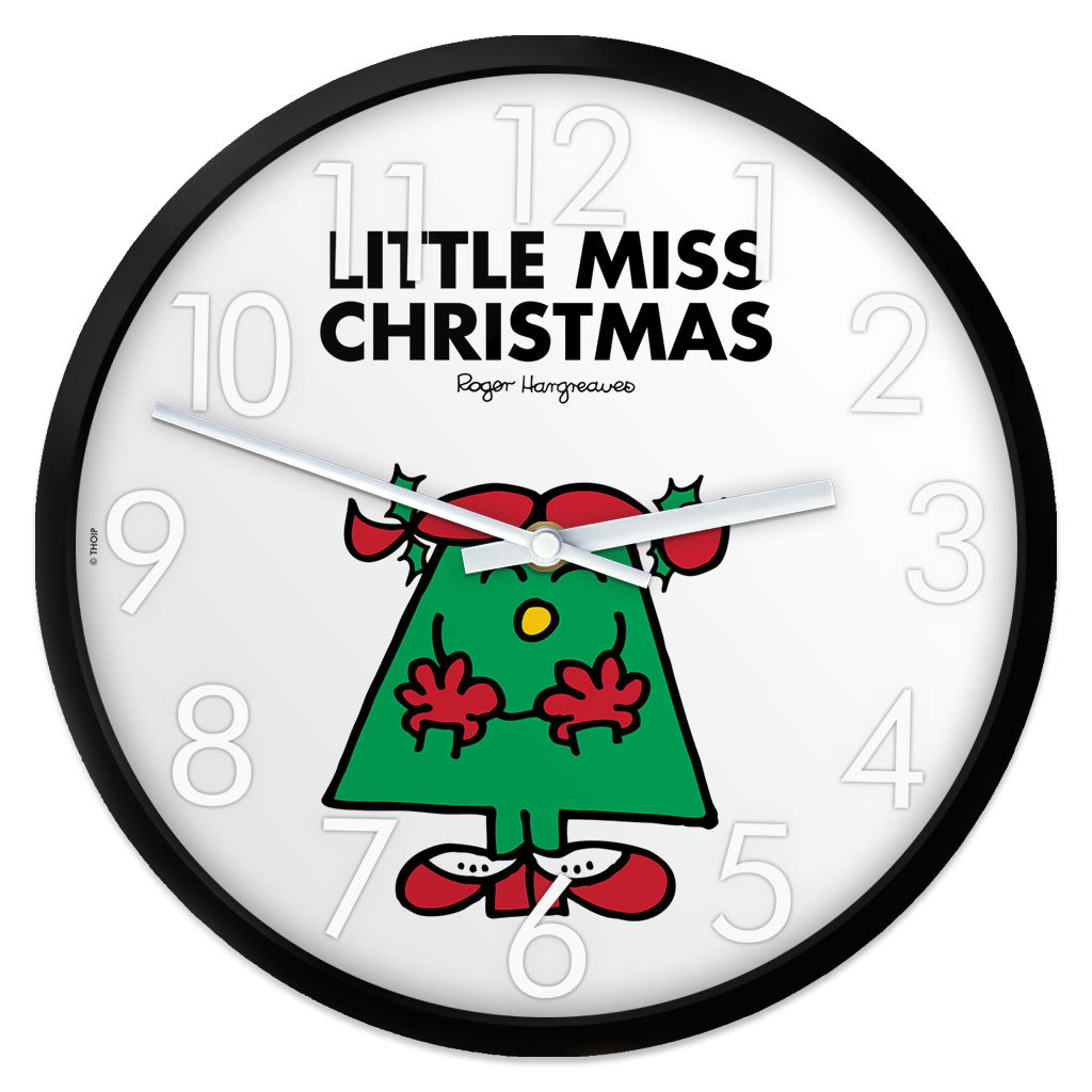 Little Miss Christmas Personalised Clock