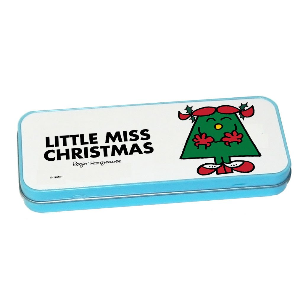 Little Miss Christmas Pencil Case Tin (Blue)