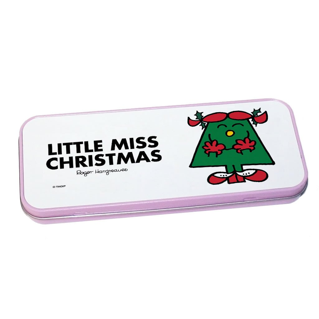 Little Miss Christmas Pencil Case Tin (Pink)