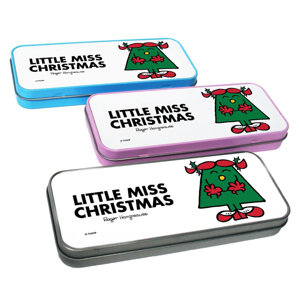 Little Miss Christmas Pencil Case Tin