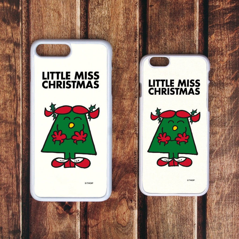 Little Miss Christmas White Phone Case (Lifestyle)