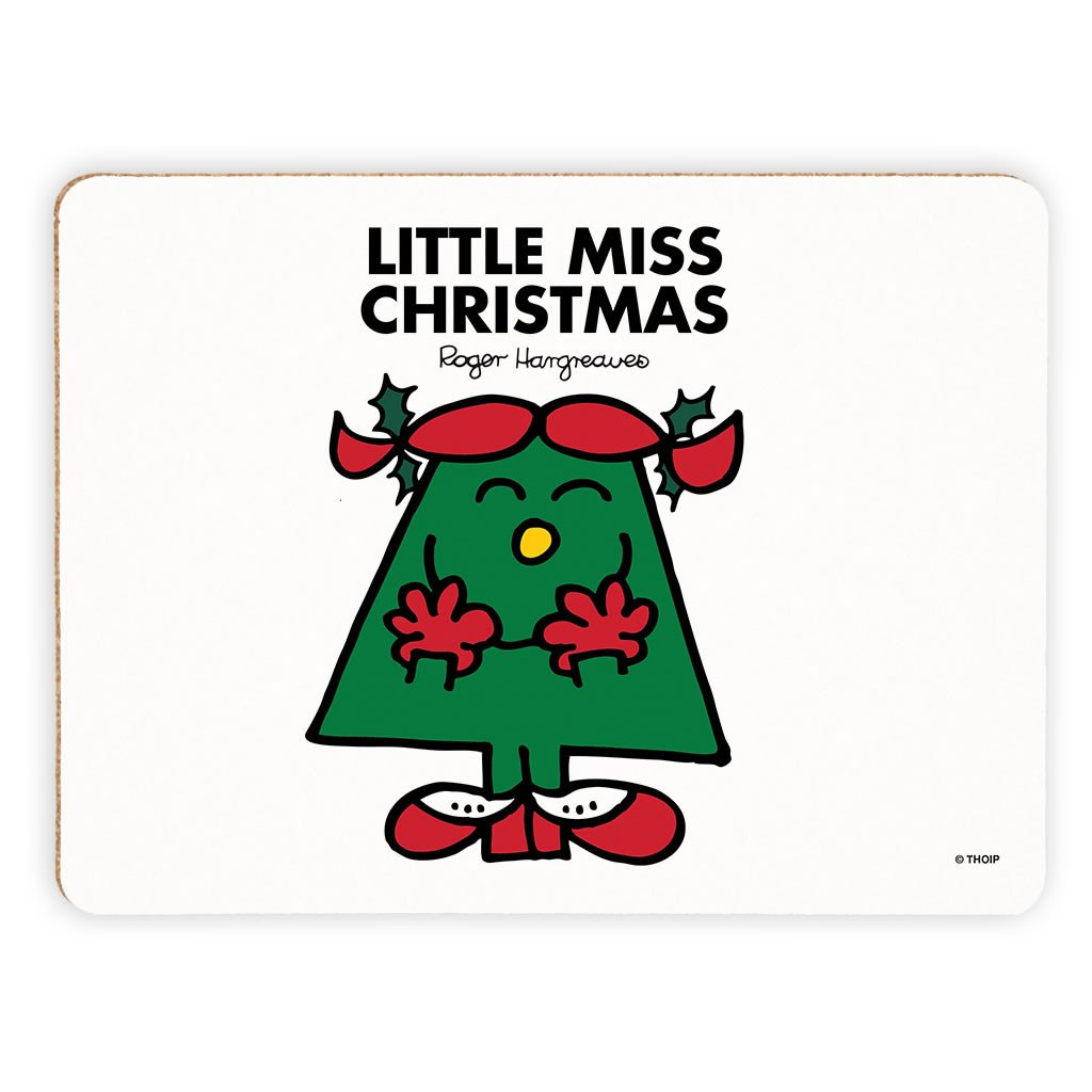 Little Miss Christmas Cork Placemat