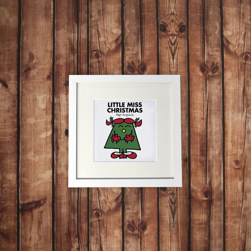 Little Miss Christmas White Framed Print (Lifestyle)