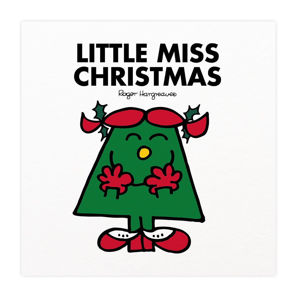 Little Miss Christmas Mounted Art Print