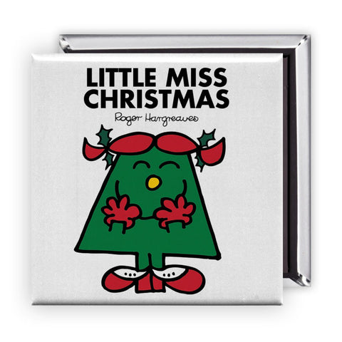 Little Miss Christmas Square Magnet