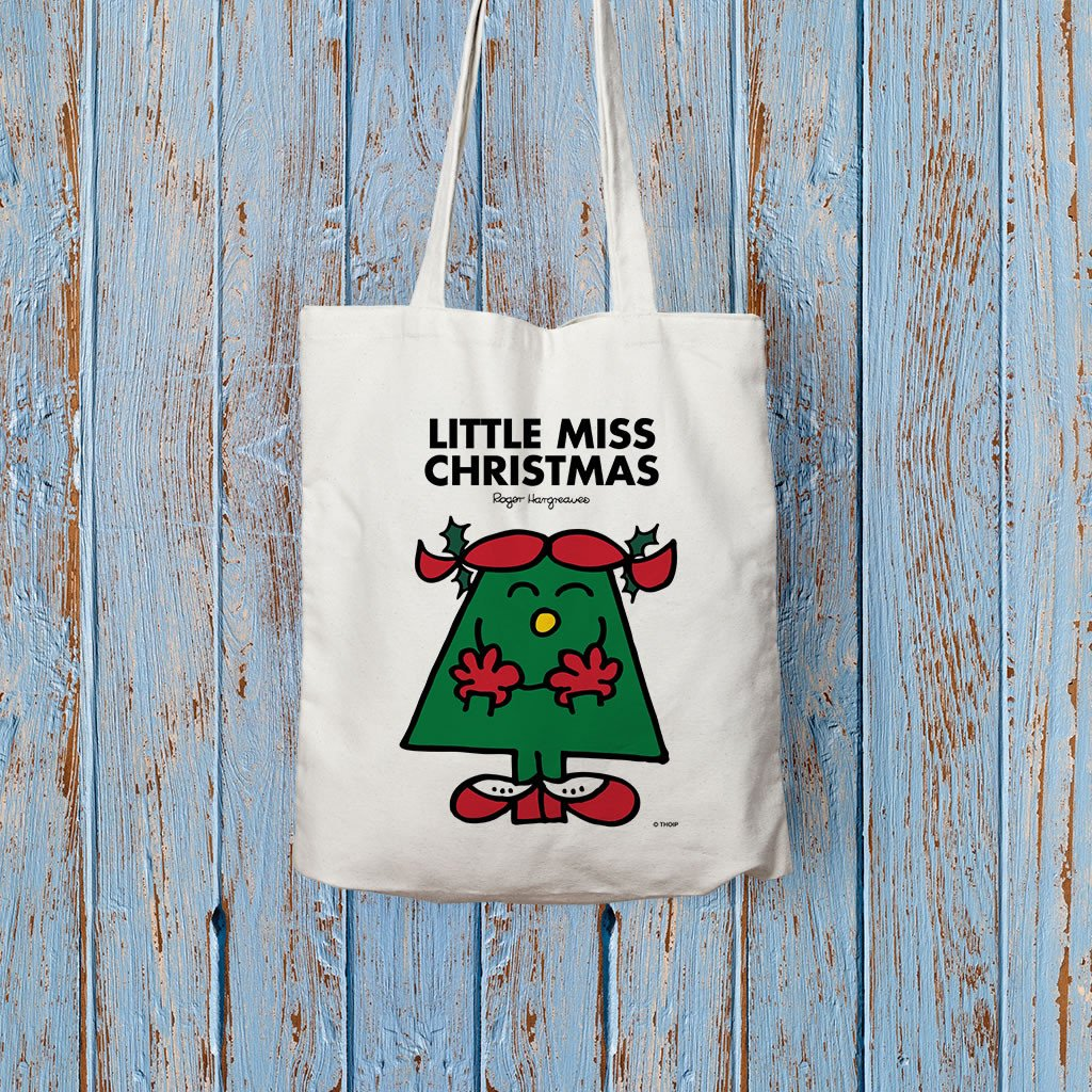 Little Miss Christmas Long Handled Tote Bag (Lifestyle)