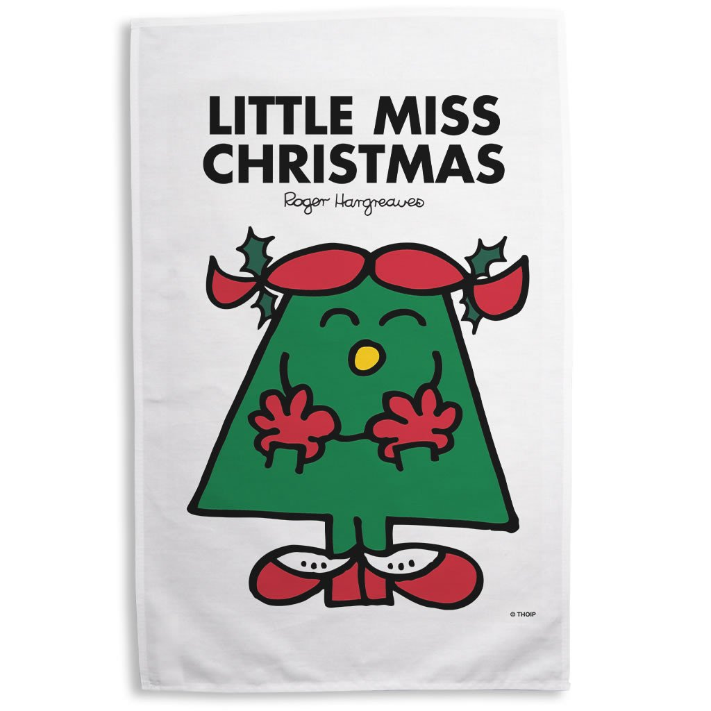 Little Miss Christmas Tea Towel