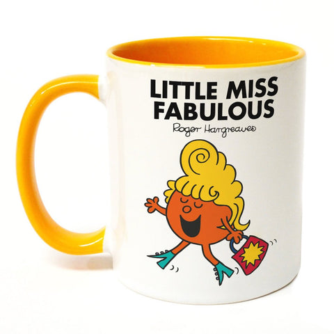 Little Miss Fabulous Large Porcelain Colour Handle Mug