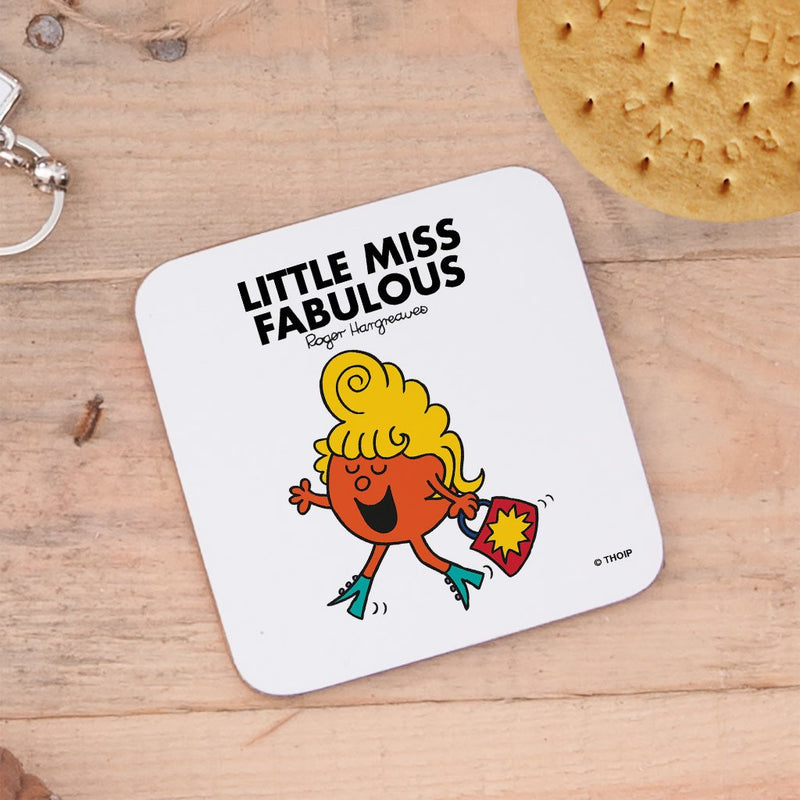 Little Miss Fabulous Cork Coaster (Lifestyle)