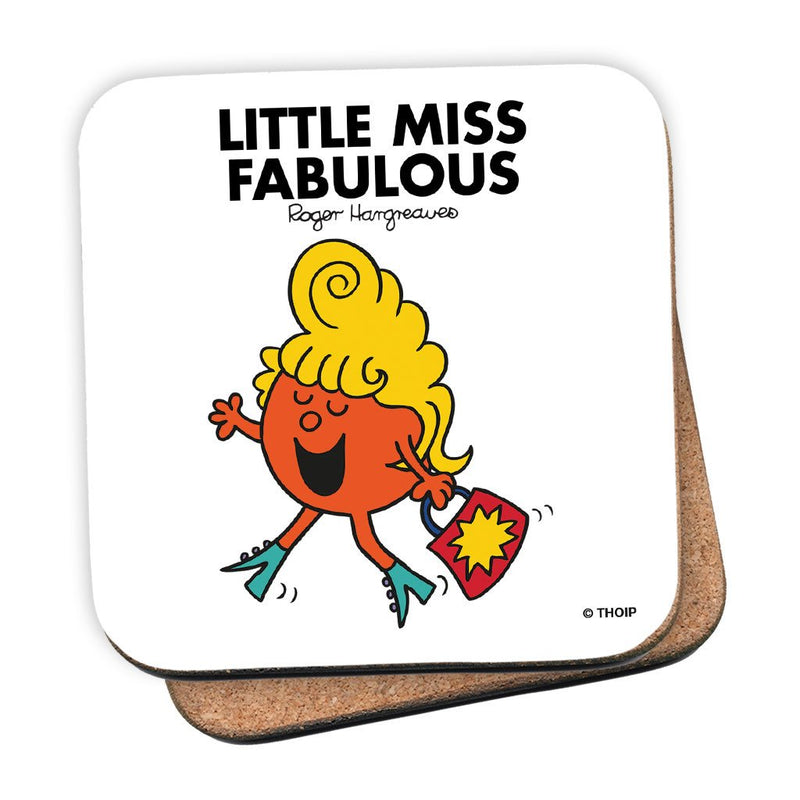 Little Miss Fabulous Cork Coaster