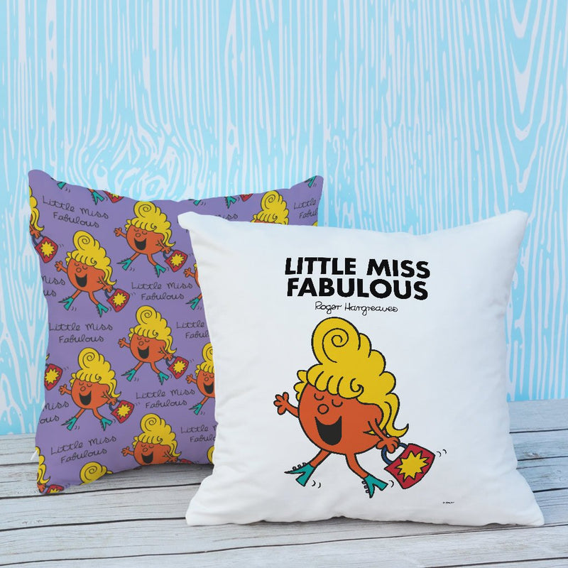 Little Miss Fabulous Micro Fibre Cushion (Lifestyle)