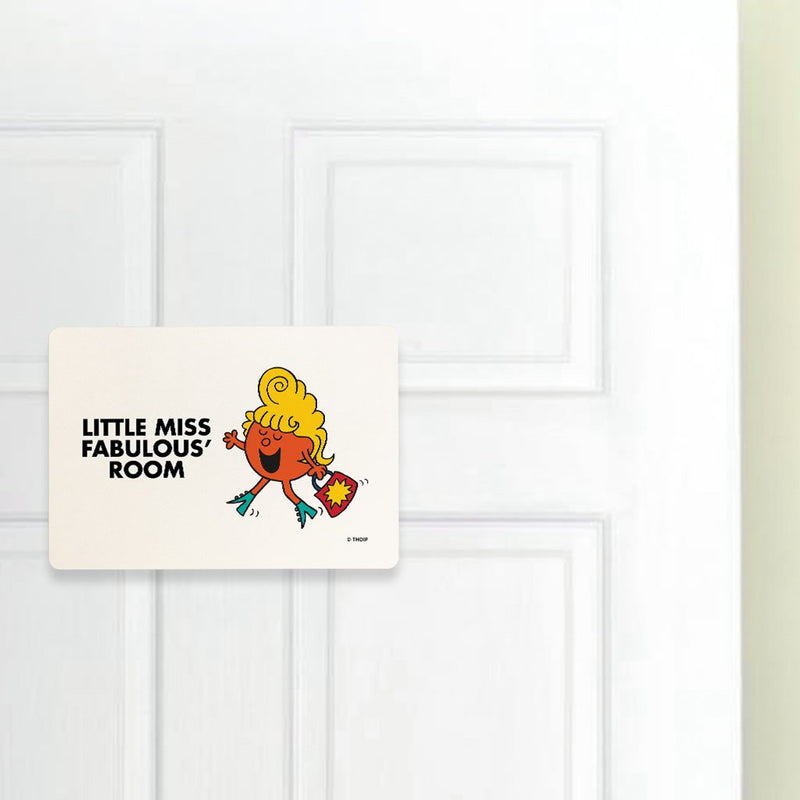 Little Miss Fabulous Door Plaque (Lifestyle)