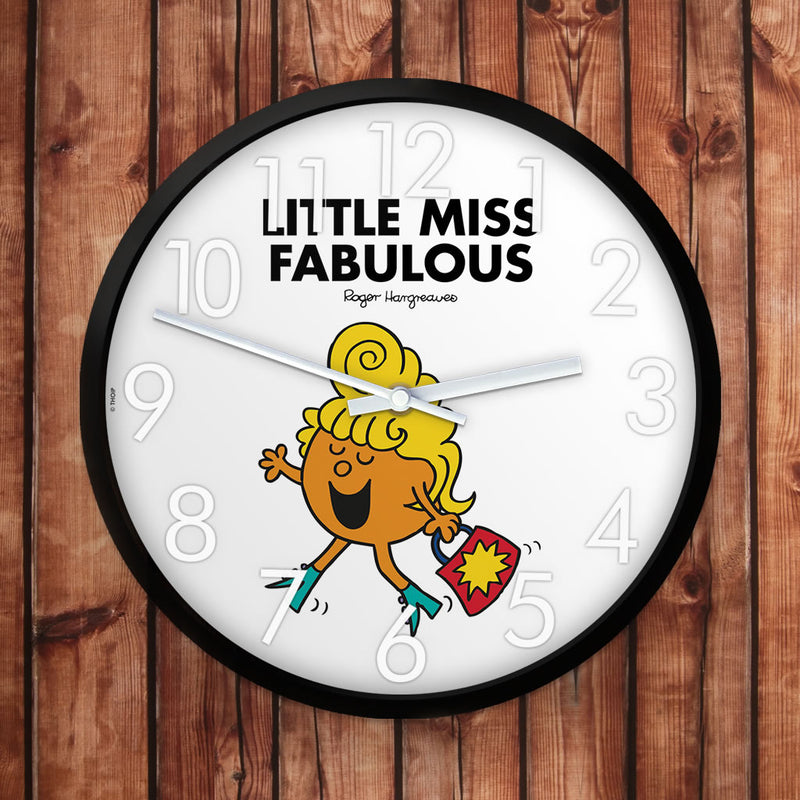 Little Miss Fabulous Personalised Clock (Lifestyle)