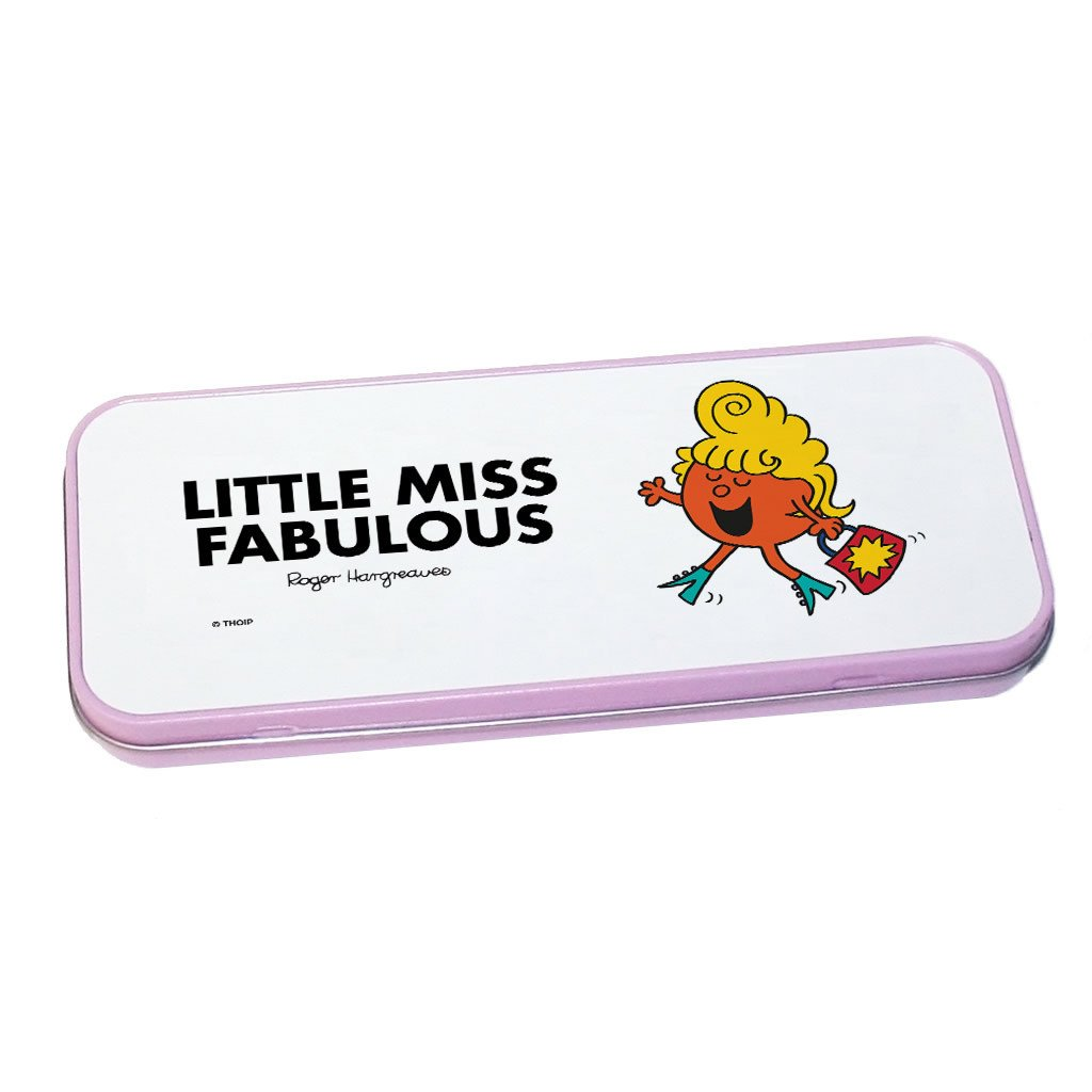Little Miss Fabulous Pencil Case Tin (Pink)