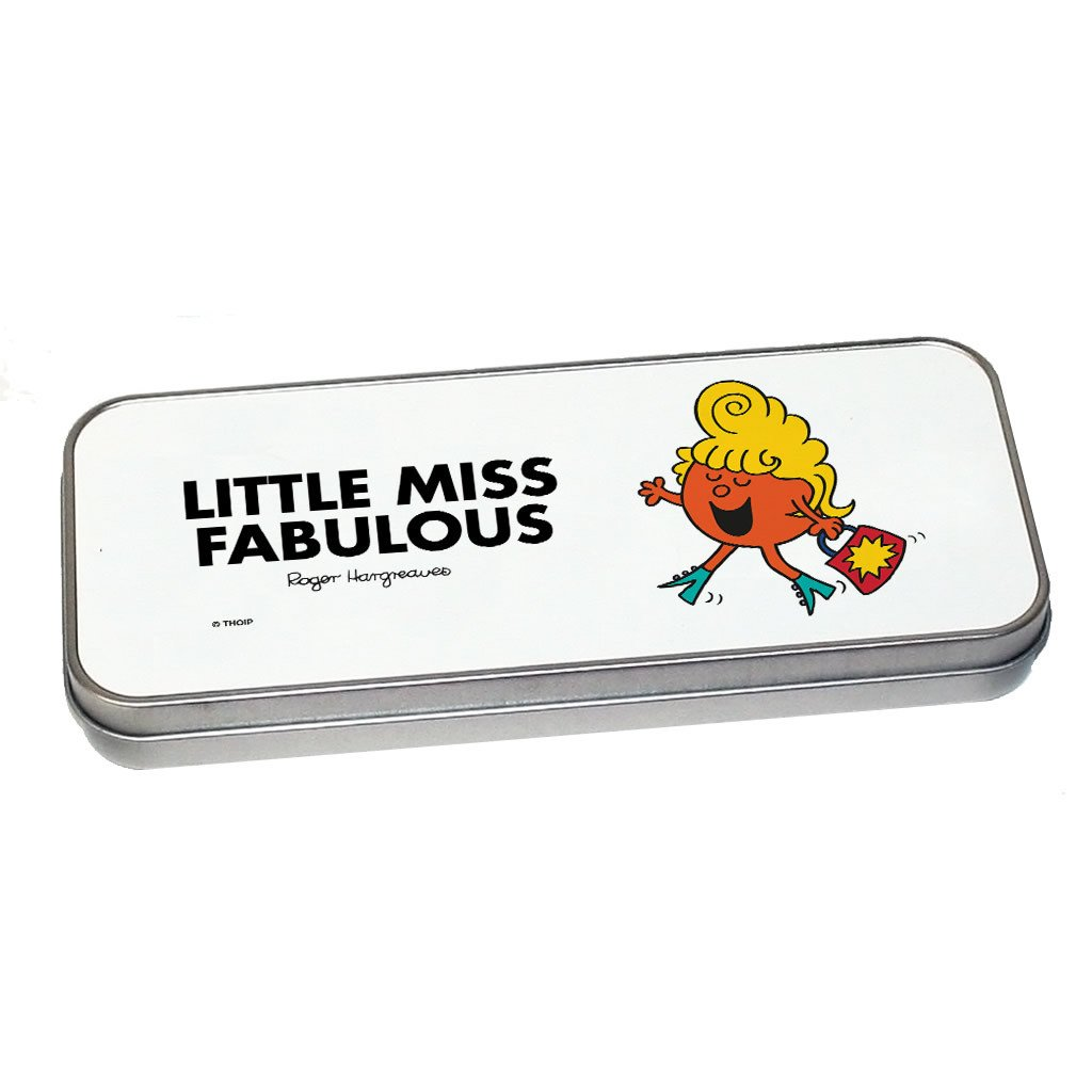 Little Miss Fabulous Pencil Case Tin (Silver)