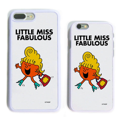 Little Miss Fabulous White Phone Case