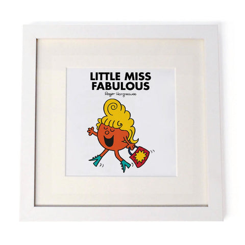 Little Miss Fabulous White Framed Print