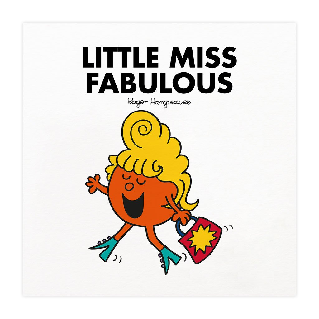 Little Miss Fabulous Mounted Art Print