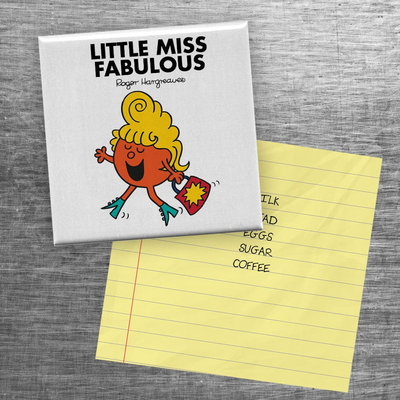 Little Miss Fabulous Square Magnet (Lifestyle)
