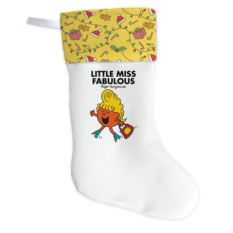Little Miss Fabulous Christmas Stocking (Front)