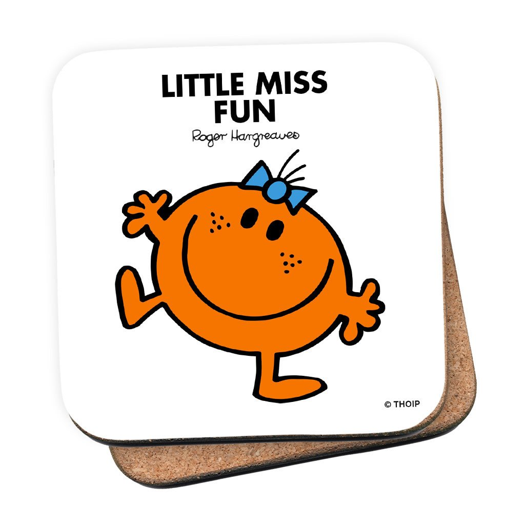 Little Miss Fun Cork Coaster