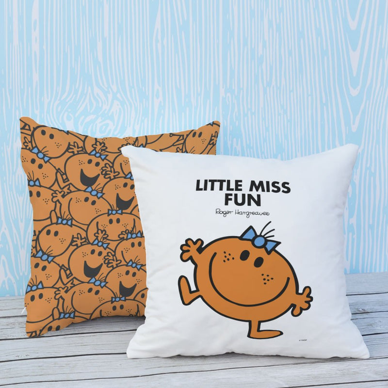 Little Miss Fun Micro Fibre Cushion (Lifestyle)