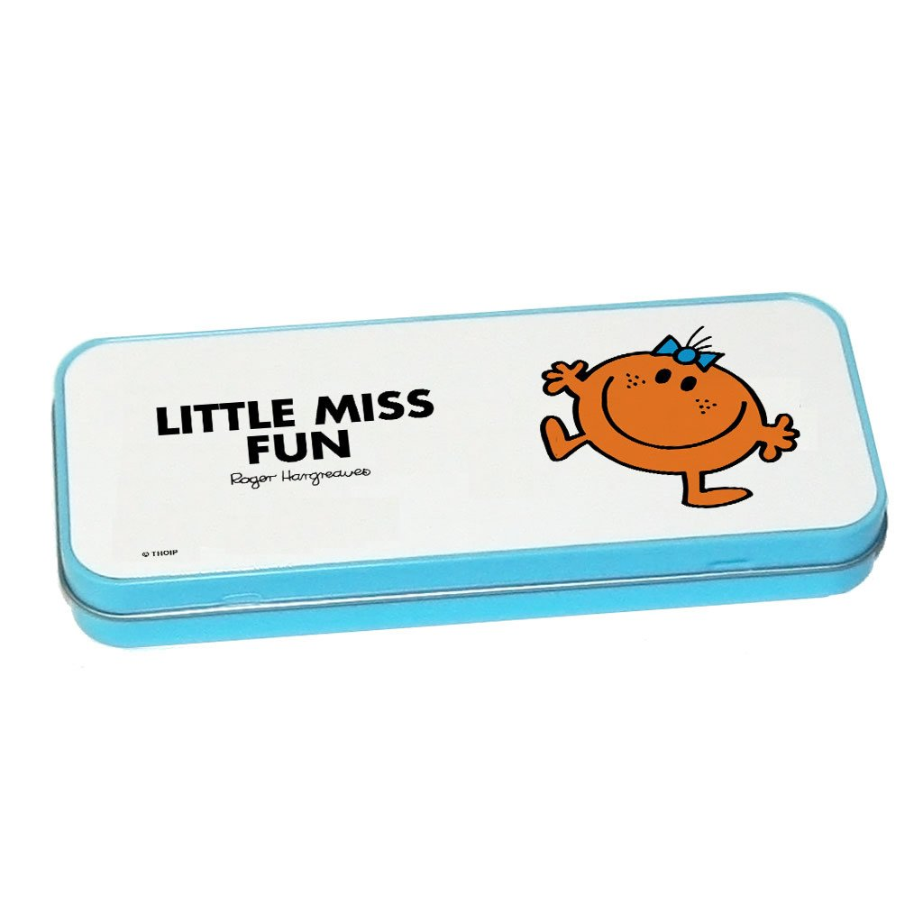 Little Miss Fun Pencil Case Tin (Blue)