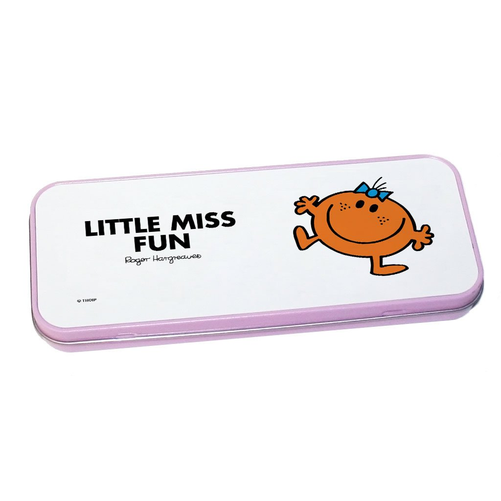 Little Miss Fun Pencil Case Tin (Pink)