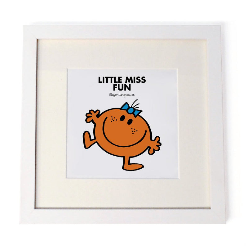 Little Miss Fun White Framed Print