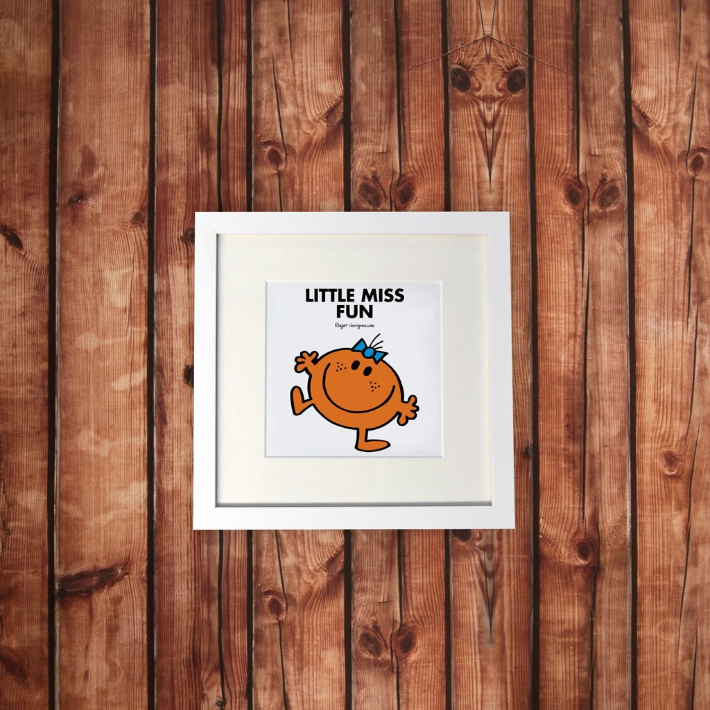 Little Miss Fun White Framed Print (Lifestyle)