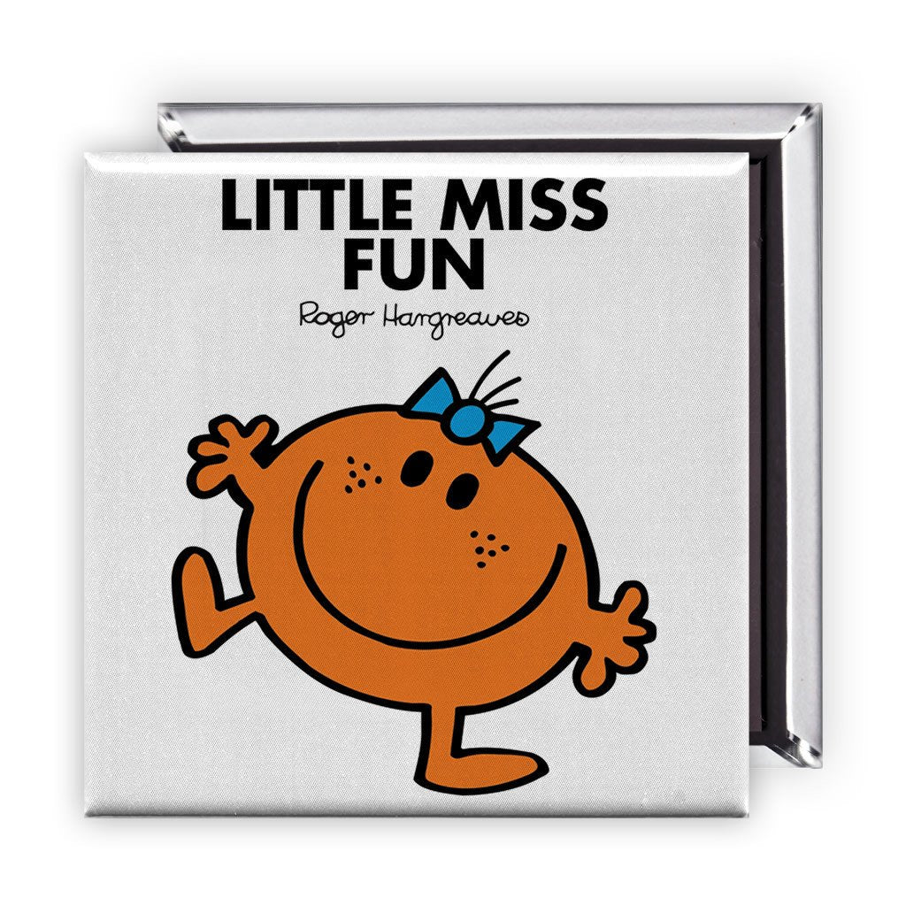 Little Miss Fun Square Magnet