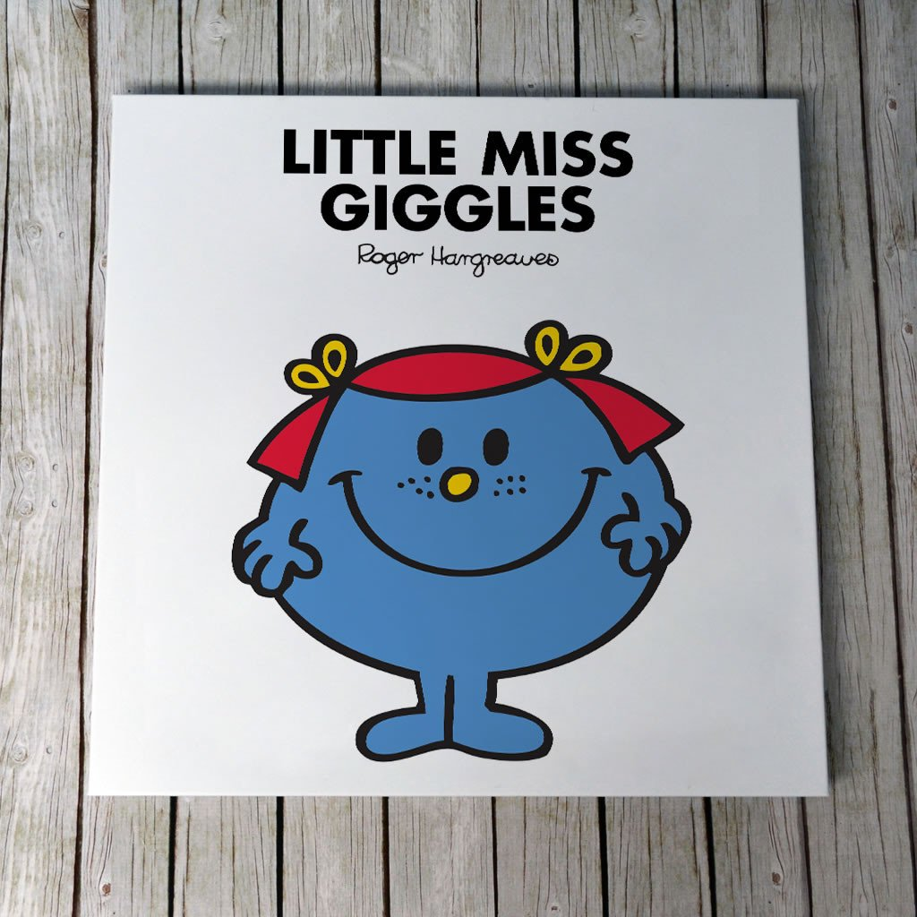Little Miss Giggles Canvas (Lifestyle)