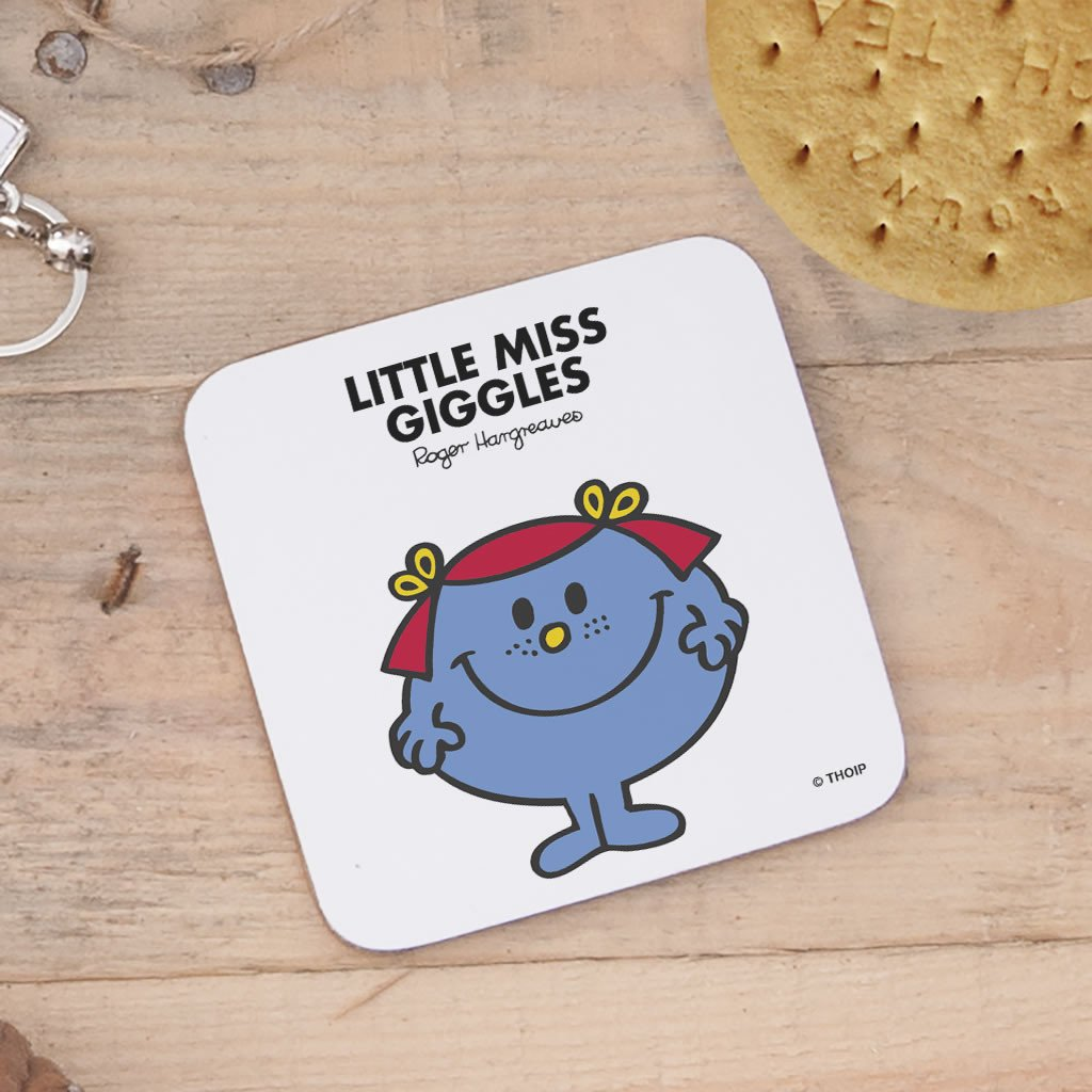 Little Miss Giggles Cork Coaster (Lifestyle)