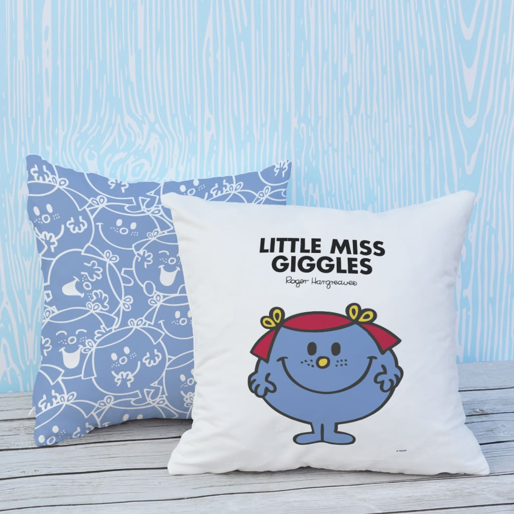 Little Miss Giggles Micro Fibre Cushion (Lifestyle)