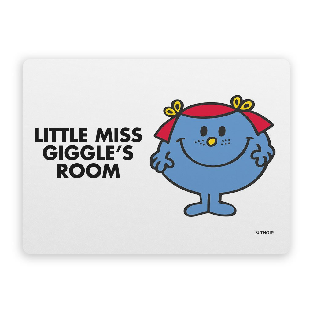 Little Miss Giggles Door Plaque