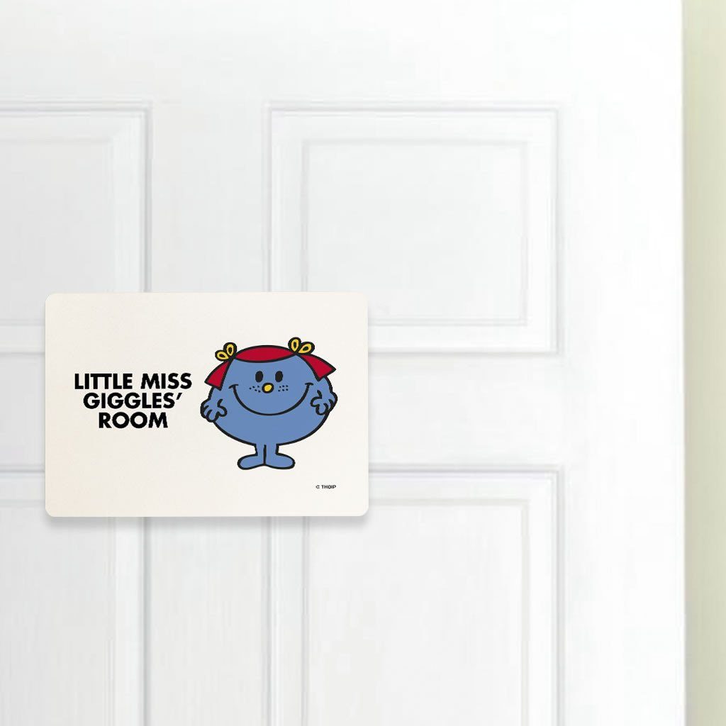 Little Miss Giggles Door Plaque (Lifestyle)
