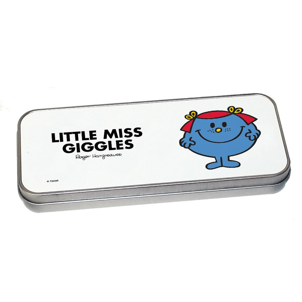 Little Miss Giggles Pencil Case Tin (Silver)
