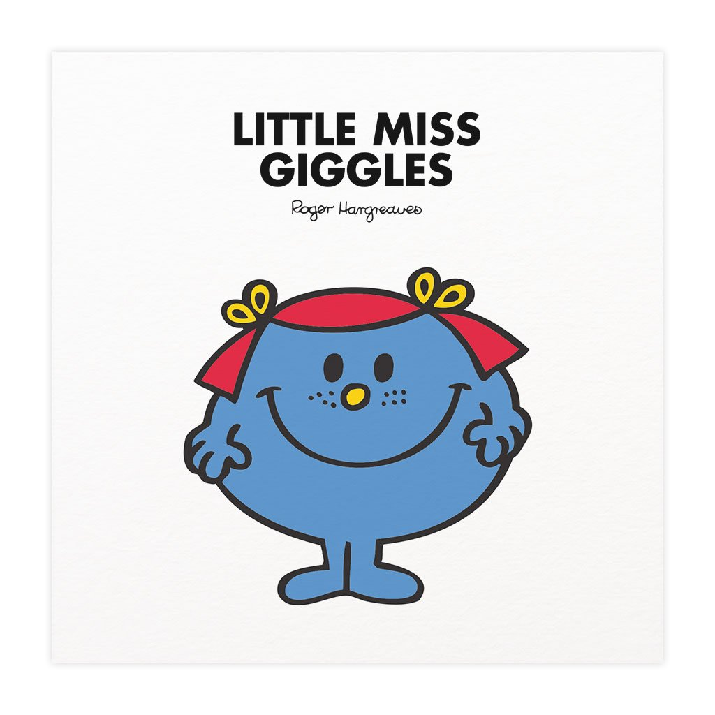 Little Miss Giggles Mounted Art Print