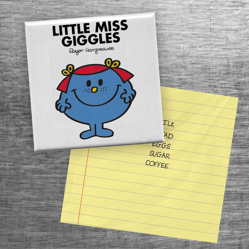 Little Miss Giggles Square Magnet (Lifestyle)