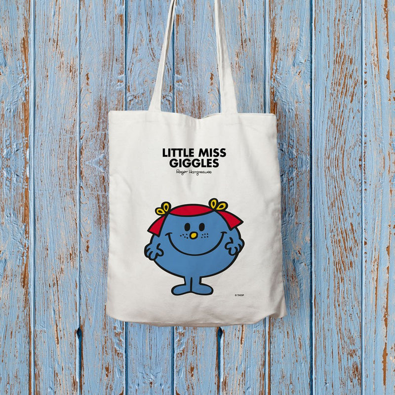 Little Miss Giggles Long Handled Tote Bag (Lifestyle)