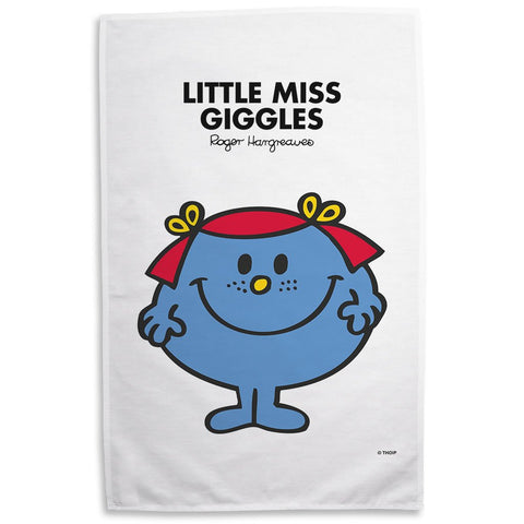 Little Miss Giggles Tea Towel