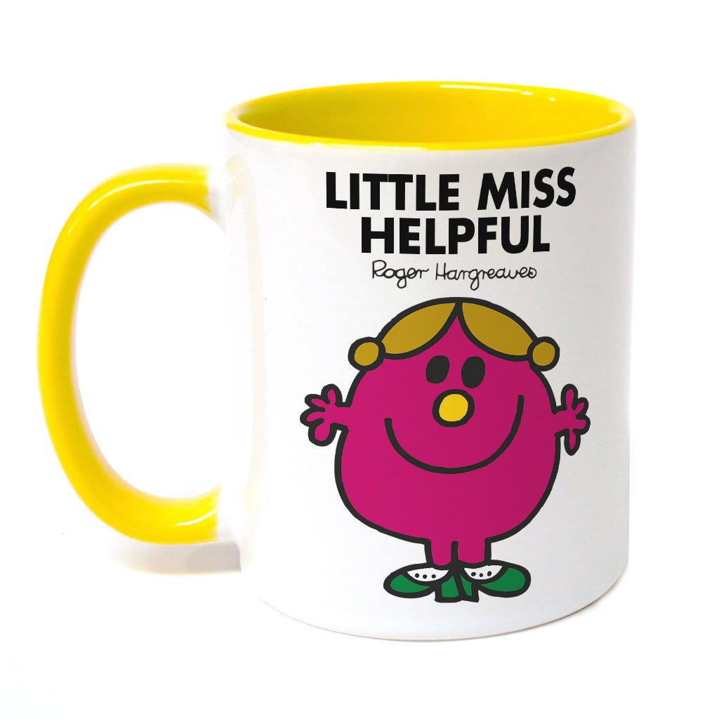 Little Miss Helpful Large Porcelain Colour Handle Mug