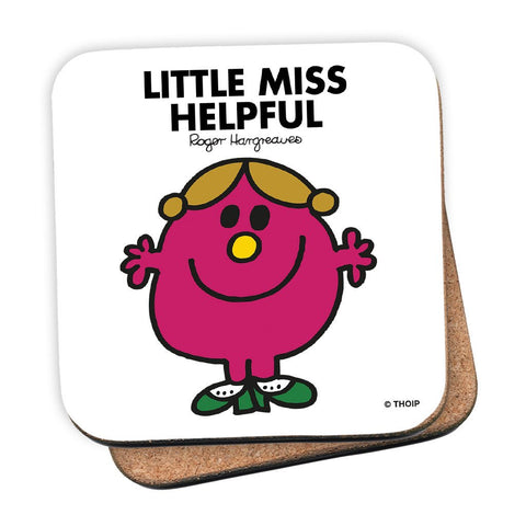 Little Miss Helpful Cork Coaster