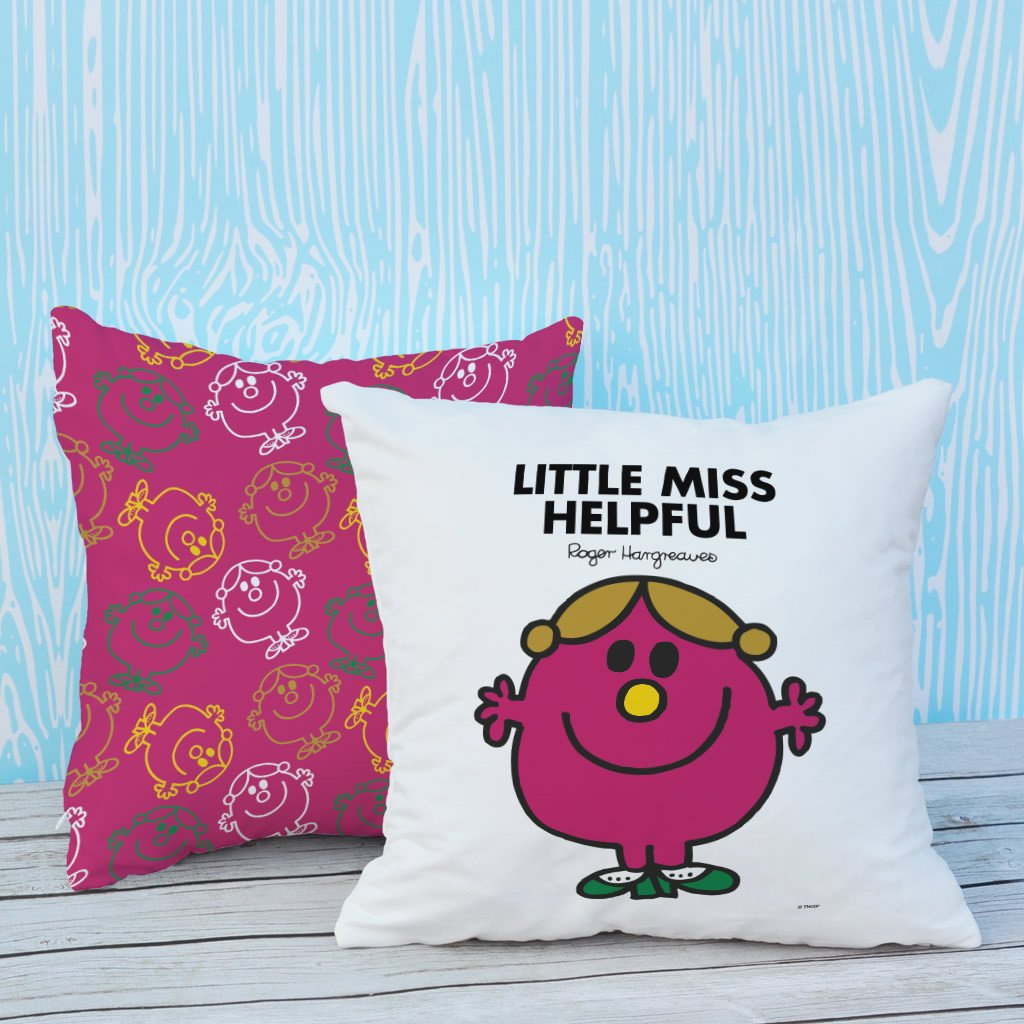 Little Miss Helpful Micro Fibre Cushion (Lifestyle)