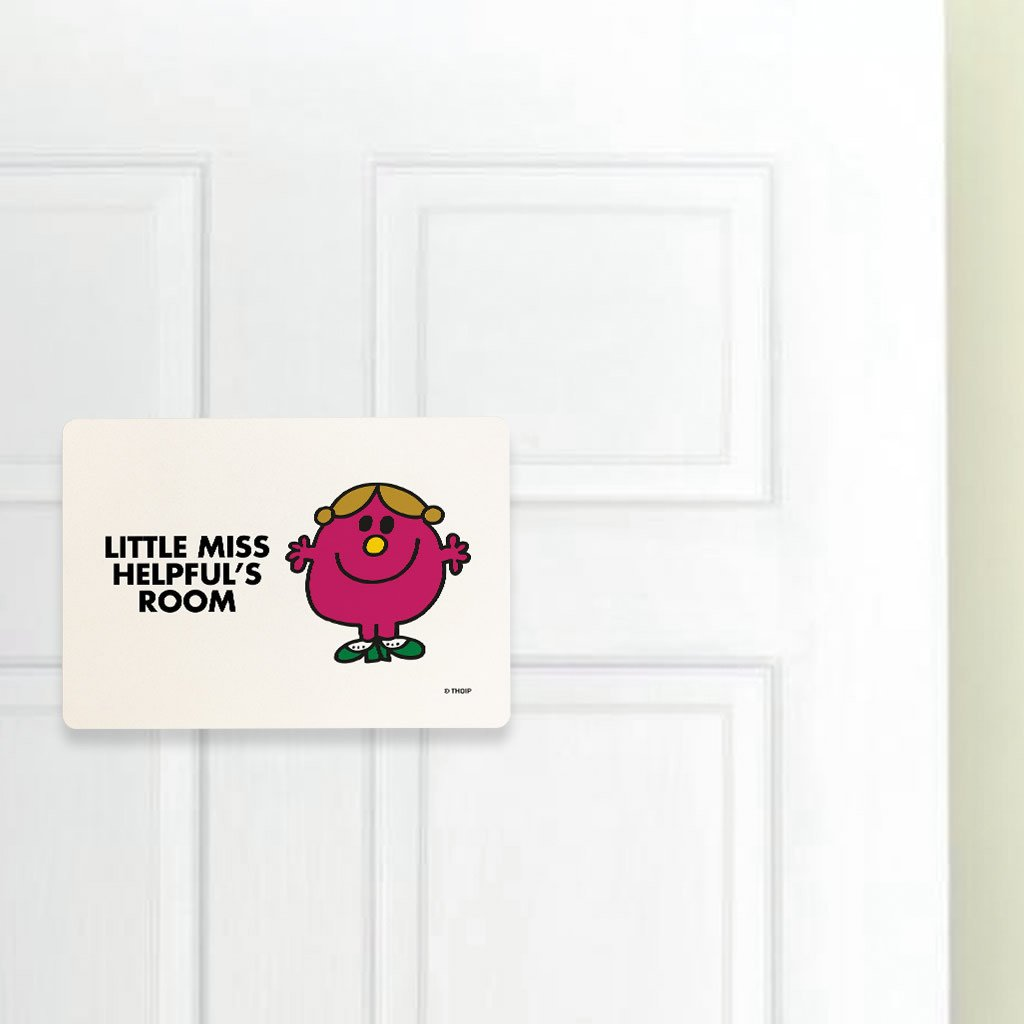 Little Miss Helpful Door Plaque (Lifestyle)